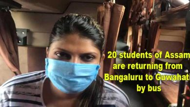 Photo of 20 students of Assam are returning from Bangaluru to Guwahati by bus