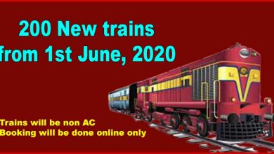 Photo of Indian Railways to introduce 200 New trains 1st June, 2020