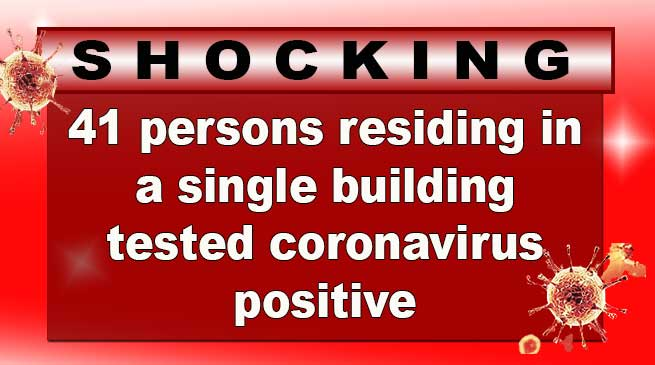Delhi: 41 persons residing in a single building tested coronavirus positive