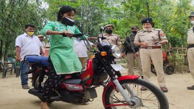 Photo of Assam: Dibrugarh police gifted moped to a young girl who selling vegetables on bicycle