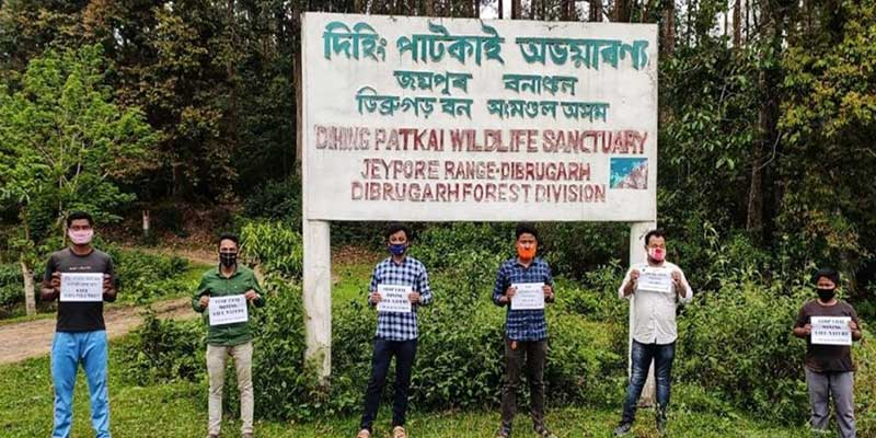 Assam: AASU Protest against Coal Mining at Dehing-Patkai Reserve Forest