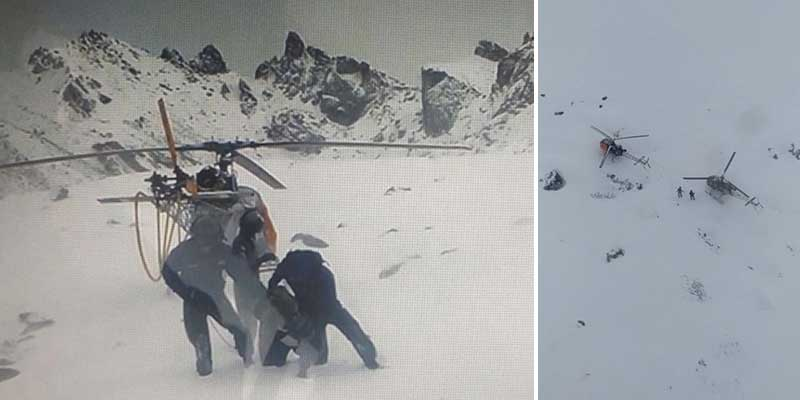 Sikkim: Army Troops, IAF Helicopters Evacuate Stranded IAF Crew from Icy heights