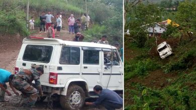 Photo of Manipur: Army rescues accident victims, recovers vehicle in senapati