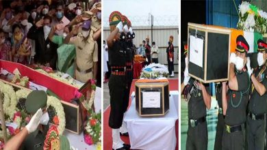 Photo of Ladakh Clash: 5 of 20 soldiers who died in Ladakh laid to rest