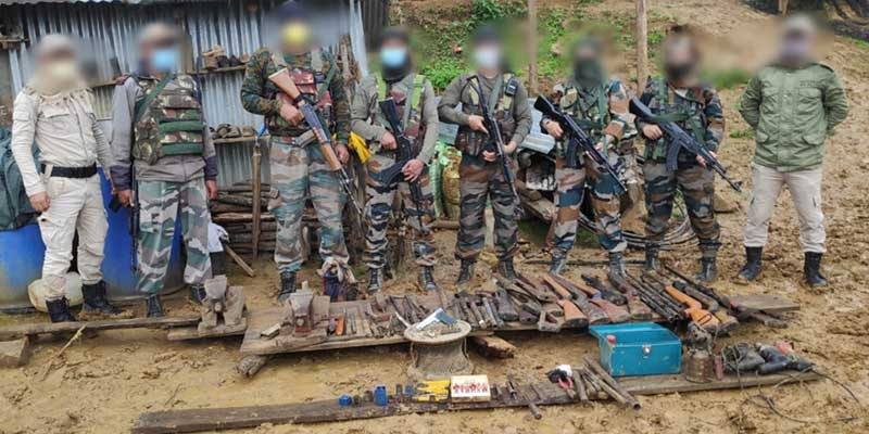 Manipur: Assam Rifles Bust Illegal Arms Workshop in Ukhrul