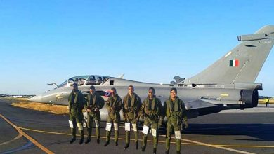 Photo of Five Rafale fighter jets took off from France airbase to India