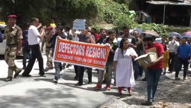 Photo of Sikkim: SPYF protest rally against recent SDF defection